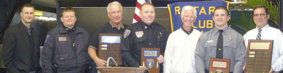 Rotary Club Recognition of Police and Firemen of the Year