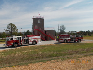 training tower with trucks